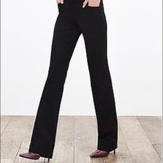 "Black slacks Stretchy Banana Republic Sloan black dress slacks. Perfect condition and great fit... Size 6L 34"" inseam. Perfect for long legs and can be rolled up for shorter... Pants look exactly like the first picture when, worn same exact pants Banana Republic Pants Trousers"
