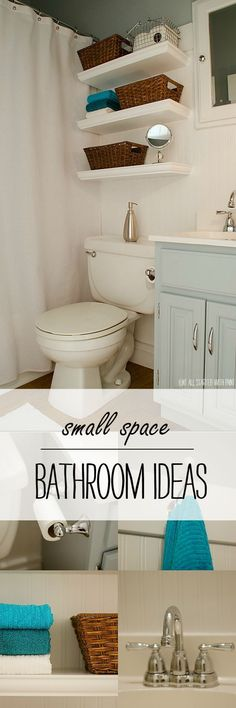 Blue and White Bathroom Makeover - It All Started With Paint