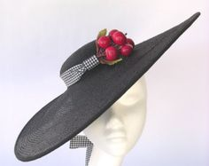 Hat cloche art deco felt velvet  black style by EleanorHats