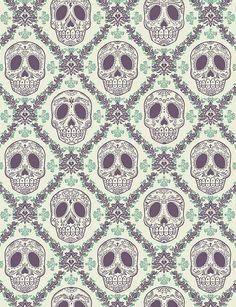 skulls patterns_my blue flamingo