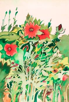 """Modern British Art Works by David Evans: """"Red Anemone"""" Watercolour Painting, Painting Art, Red Anemone, David Evans, Art Flowers, Modern Art, Floral, Florals, Contemporary Art"""