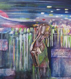 """Sara Elkamel - """"Now and Then"""" – 2011  """"an emerging Egyptian artist living in Cairo, inspired by the bustling city's colors, sounds, and its recent surge of freedom."""""""
