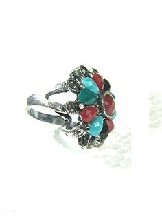 Christmas Gift Idea Floral Silver Tone Antique Fashion Cocktail Womens Ring Mogul Interior http://www.amazon.com/dp/B00Q9V8EHK/ref=cm_sw_r_pi_dp_o0fEub00DBSXY