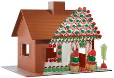 plastic gingerbread houses to decorate