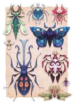 https://www.behance.net/gallery/19913091/Otherworldly-Entomology