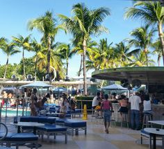The Clevelander, Outside Dining + Bar, Miami Beach FL