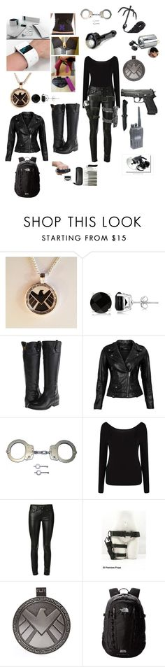 """""""SHIELD"""" by kjade2 ❤ liked on Polyvore featuring Allurez, Frye, VIPARO, Holster, Smith & Wesson, INC International Concepts, Boohoo, Yves Saint Laurent, Spy Optic and Equipment"""