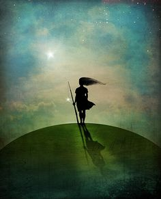 """Walk your walk vulnerably strong,  greatly, shine your light and share your shadow. <3 """"Morning Star""""byCatrin Welz-Stein"""
