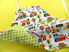 Toddler's Reversible Apron $28.  U.S. free shipping. Great holiday gift and stocking stuffer.  Toddler and Baby Boy Gift.