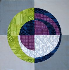 Pillow challenge by Allison Sews. Meridian quilt pattern by Alison Glass and Jessica Beaudet. Circle Quilt Patterns, Circle Quilts, Loom Patterns, Small Quilts, Mini Quilts, Quilting Projects, Quilting Designs, Drunkards Path Quilt, Modern Quilt Blocks