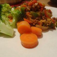 Pittig gehakt met broccoli en wortel @ allrecipes.nl