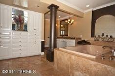 This 6,000+ SF home has a beautiful bathroom