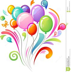 Colourful Splash With Party Balloons - Download From Over 68 Million High Quality Stock Photos, Images, Vectors. Sign up for FREE today. Image: 13802216