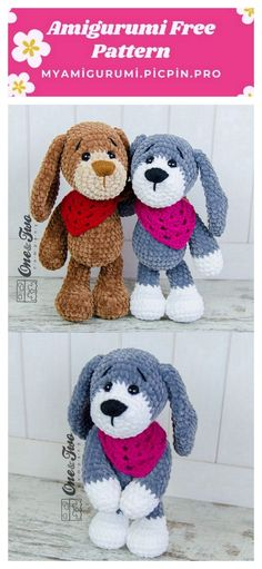We are always trying to reach the most beautiful amigurumi dog crochet patterns. I think you'll like the amigurumi crochet dog free patterns. Doll Patterns Free, Crochet Amigurumi Free Patterns, Crochet Animal Patterns, Crochet Bear, Stuffed Animal Patterns, Free Crochet, Crochet Crafts, Crochet Toys, Crochet Projects