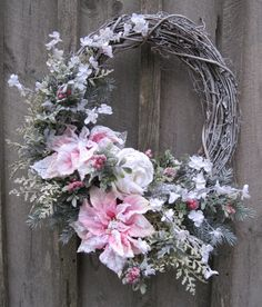 Winter Elegance Frosted Wreath by NewEnglandWreath