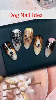 nail beauty- show you all kinds of nail desins and ideas for lady's beauty: beautiful nails, nail art, nail care, nail art designs, nails and beauty Dog Nail Art, Animal Nail Art, Dog Nails, Animal Nail Designs, Nail Art Designs Videos, Nail Art Videos, Minimalist Nails, Nail Selection, Nagellack Trends