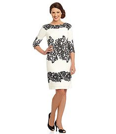 Adrianna Papell Printed Lace Sheath Dress #Dillards