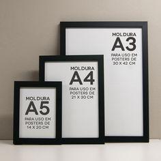 Comprar! De 29,90 a 59,90 com vidro! Molduras A5, A4 ou A3 - Com vidro