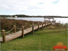 Fox Lake from house to street Rope Deck Railing Ideas