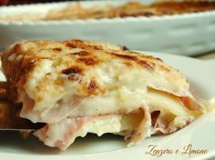 Parmigiana Bianca di Patate d Speck  Link ricetta --> http://blog.giallozafferano.it/paola67/parmigiana-bianca-patate/
