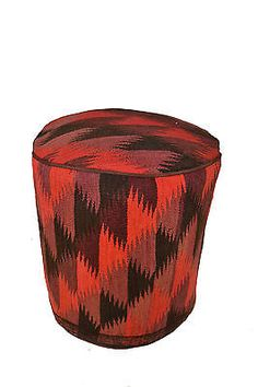 Rug Pouf / Rug Sitting Stool Ottoman made of vintage kilim rug # 12