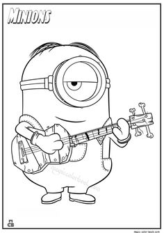 minion coloring pages to print dave the minion