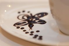 Un detall de la decoració d'un #LatteArt.  #Cappucino #Espresso #CafesCornella #Cafe #Coffee #Coffetime