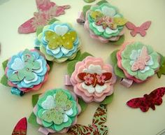 Flowers for Hair.  So Cute!  Girlie Glue can stick them on!  girlieglue.com