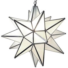 Moravian Star Pendant Light, Frosted Glass, Silver Frame,... https://www.amazon.com/dp/B011SFY5V0/ref=cm_sw_r_pi_dp_2saDxbQ3WWEH3