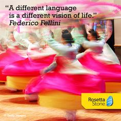 """""""A different language is a different vision of life."""" -Federico Fellini #language #quote"""
