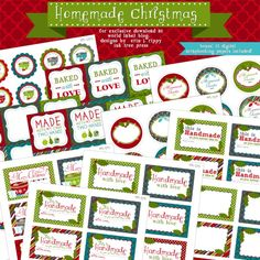 Free Printable Labels for Christmas baked goods by @Erin B B Rippy - Ink Tree Press