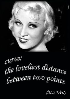 Mae West had some beautiful curves. https://www.facebook.com/GenerousFashions