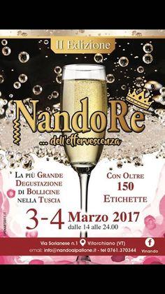 """""""NandoRe"""", la più grande degustazione di bollicine del Centro Italia (03 Marzo 2017)"""