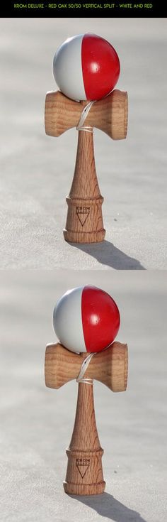 KROM Deluxe - Red Oak 50/50 Vertical Split - White and Red #shopping #plans #racing #products #tech #camera #drone #fpv #gadgets #technology #kit #oak #parts #kendama