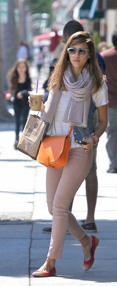 Jessica Alba, Ralph Lauren bag...