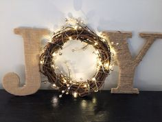 Joy sign Christmas sign Christmas mantle decor by TheClassyGoose