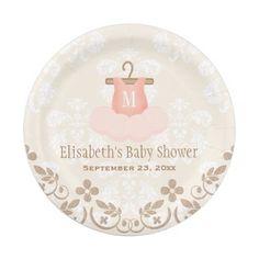 Monogrammed Tutu Ballet Themed Baby Shower