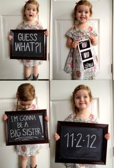 42 ideas baby reveal ideas for siblings chalkboards for 2019 Second Baby Announcements, Big Sister Announcement, Baby Number 2 Announcement, Creative Baby Announcements, Announcement Cards, Foto Baby, Baby Gender, Baby Time, Funny Babies