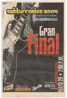 Aviso en La Prensa Gráfica sobre la final de uno de los concursos Subterránica