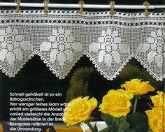 Crocheted curtain. diagram