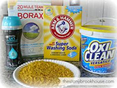 DIY Laundry Detergent ~ Made mine minus unstoppables and oxiclean, kept plain baking soda rather than washing soda.