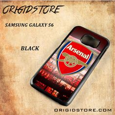 Arsenal Football Stadium Logo Black White Snap On 3D For Samsung Galaxy S6 Case