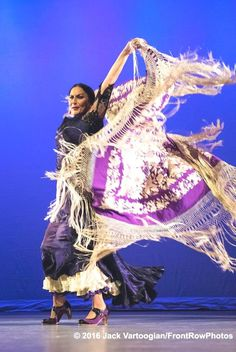 Spanish Flamenco dancer La Lupi (born Susana Lupianez Pinto) performs with her…