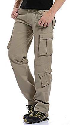 bdda4b0b Gmardar Mens Cargo Trousers Casual Camouflage Tactical Army Regular Outdoor  Combat Work Trousers Pants 8 Pockets