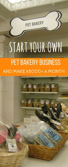 Homemade Dog Food START YOUR OWN PET BAKERY - Many people are trying to launch their own small scale businesses these days. And it's no wonder, given that l Puppy Treats, Diy Dog Treats, Homemade Dog Treats, Dog Treat Recipes, Dog Food Recipes, Dog Bakery, Bakery Business, Dog Cookies, Dog Biscuits