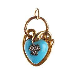 Victorian Turquoise & Diamond Snake Locket