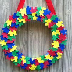 Autism wreath!