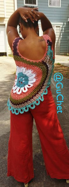 Crochet Lace Tank Top Pattern (Back)