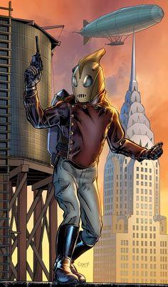 "Image of The Rocketeer (Paul Mounts ""Rocketeer"") - Comic Vine Comic Book Characters, Comic Character, Comic Books, Detective, Wayne's World, Classic Comics, Superhero Movies, Nerd Geek, Retro Futurism"