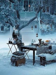 Winter Wonderland - Just once during a pretty snow storm, I'm going to do this.
